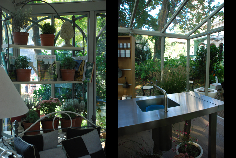 Cucina con vista giardino | VERDEarchitettura