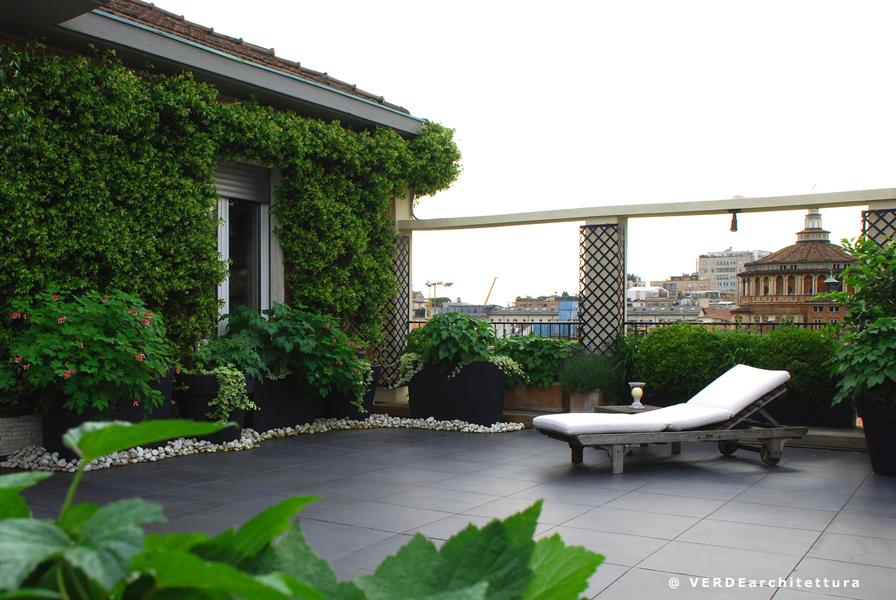 Rose verdearchitettura for Arredamento terrazzi milano