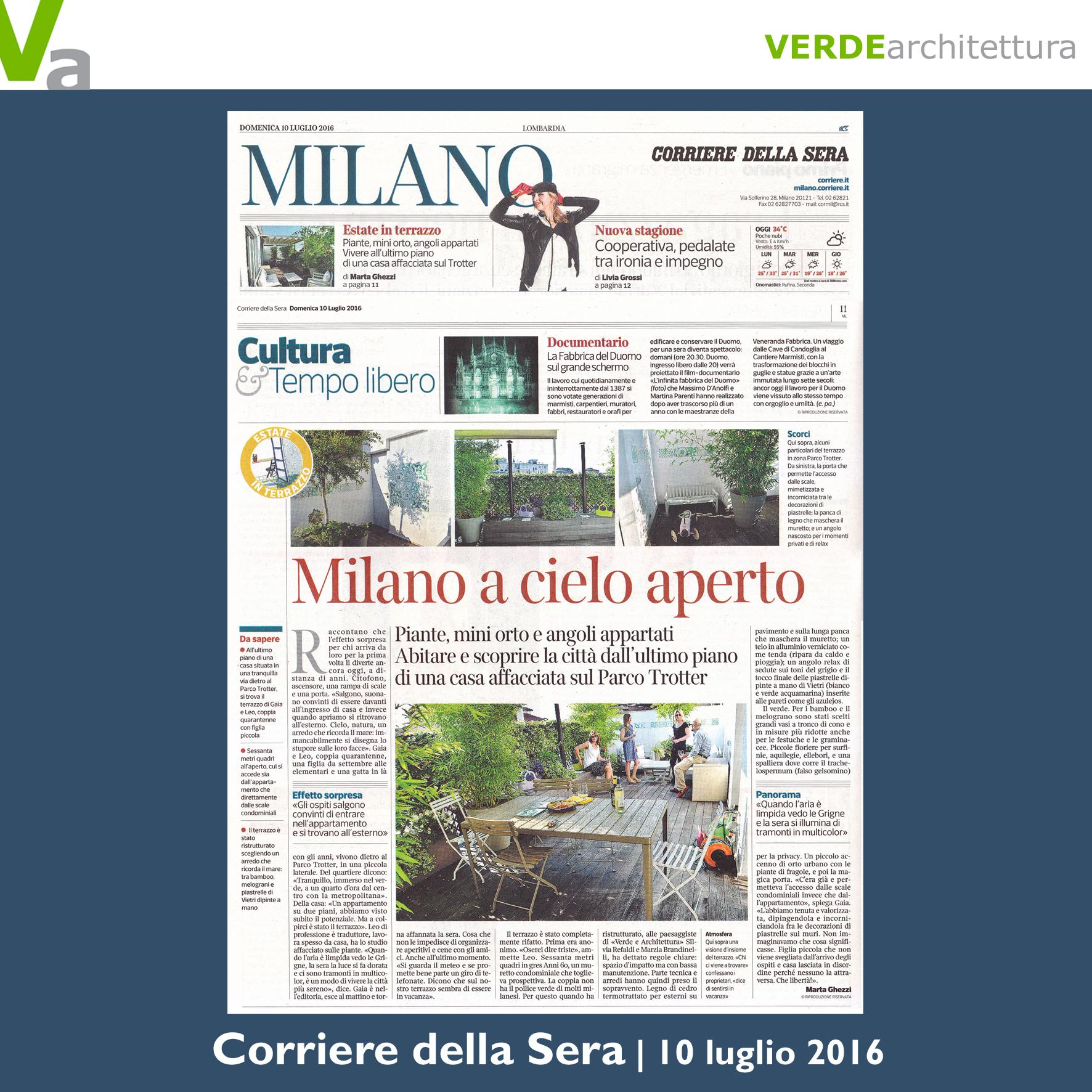 Verdearchitettura passione natura for Corriere della sera casa