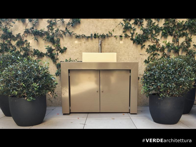 Sistema lavabo per ambiente terrazzo – VERDEarchitettura